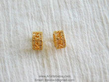 Load image into Gallery viewer, CZ Micro Pave Tube Bead 6 mm x 10 mm Bead  Gold Plated - A Girls Gems