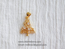 Load image into Gallery viewer, CZ Christmas Tree Charm Pendant Connector - A Girls Gems