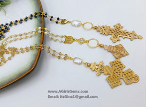 Gold Coptic Cross Necklace - A Girls Gems