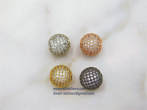 Micro Pave Beads - A Girls Gems