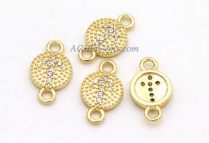 CZ Pave Cross Connector Links, 3 Pc Tiny, Lariat Drop - A Girls Gems