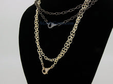 Load image into Gallery viewer, Double Choker Wrap Necklace, Front Clasp Necklace, CZ Lobster Clasp, 14/16/18/34 inch Extra Long Chain Wrap Around Necklace in Gold or Black