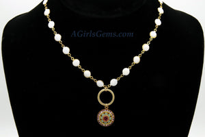 Swarovski Charm Necklace - A Girls Gems