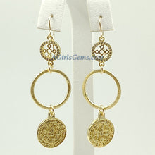 Load image into Gallery viewer, St Benedict Earrings Religious Cross Saint - A Girls Gems