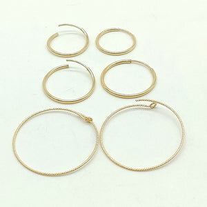 14 K Gold Hoop Earrings - A Girls Gems