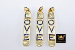 CZ Micro Pave Love Words Charms - A Girls Gems