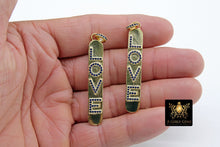 Load image into Gallery viewer, CZ Micro Pave Love Words Charms - A Girls Gems