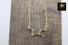 Load image into Gallery viewer, Virgo Zodiac Necklace, Gold Filled Horoscope Star Sign Constellation Choker - A Girls Gems
