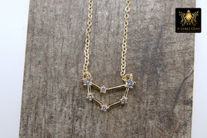 Capricorn Constellation Necklace, Gold Filled Rainbow Horoscope Stars Zodiac Sign Choker - A Girls Gems