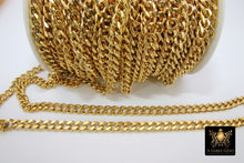 Load image into Gallery viewer, Gold Curb Chain, 10 mm Stainless Steel Large Heavy Flat - A Girls Gems
