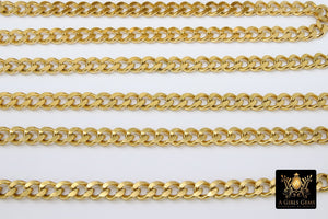 Gold Curb Chain, 10 mm Stainless Steel Large Heavy Flat - A Girls Gems