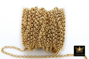 Stainless Steel ROLO Chain, 4, 5 and 6 mm Gold Chains - A Girls Gems