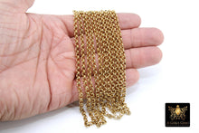 Load image into Gallery viewer, Stainless Steel ROLO Chain, 4, 5 and 6 mm Gold Chains - A Girls Gems