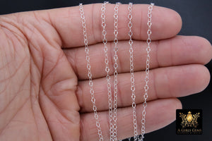 925 Sterling Silver Hammered Cable Chains, Unfinished Dapped Chain By The Foot - A Girls Gems