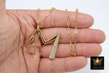 Load image into Gallery viewer, Gold Initial Chain Necklace, Cubic Zirconia Carabiner Initial Letters, Personalized Alphabet Choker - A Girls Gems