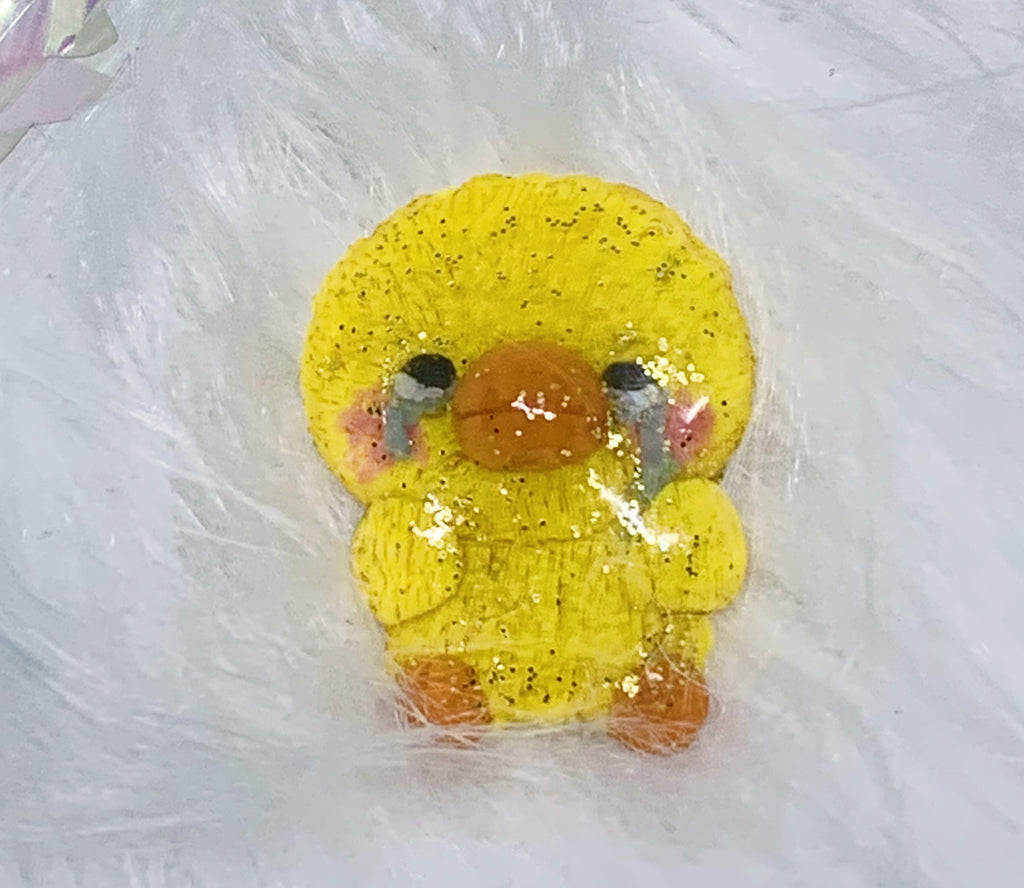 Glittery Crying Duck Meme Pin
