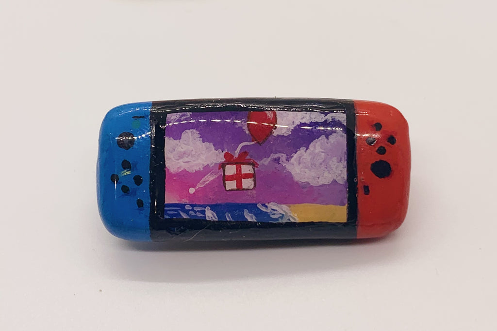 Neon Blue/Red Nintendo Switch Pin ACNH