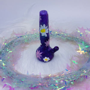 Purple Bong Incense Holder