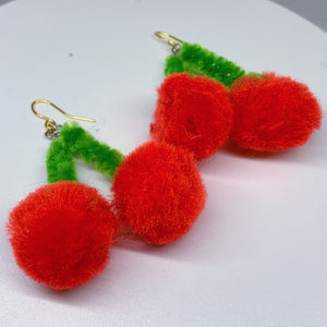 Cherry Bomb Dangly Earrings