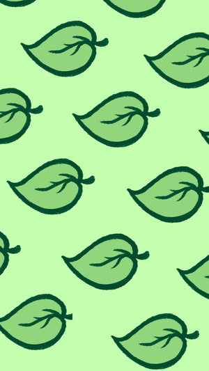 ACNH Lock Screen Background Green Leaf Icon