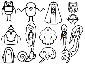 Smol Adventure Time Free Coloring Page