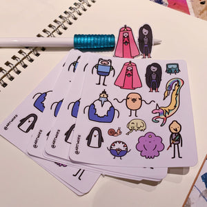 Smol Adventure Time Sticker Sheet