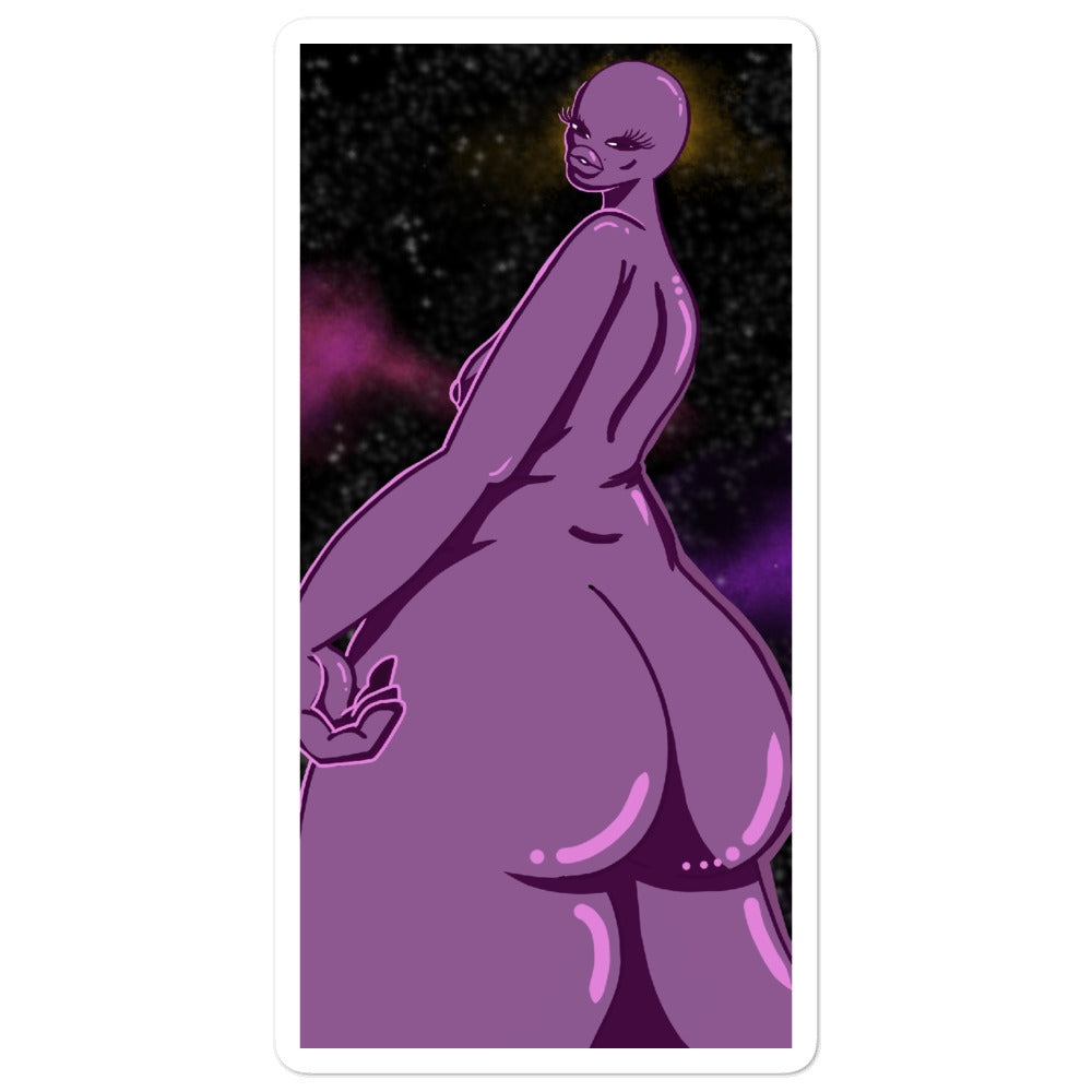 Alien Booty Vinyl Sticker