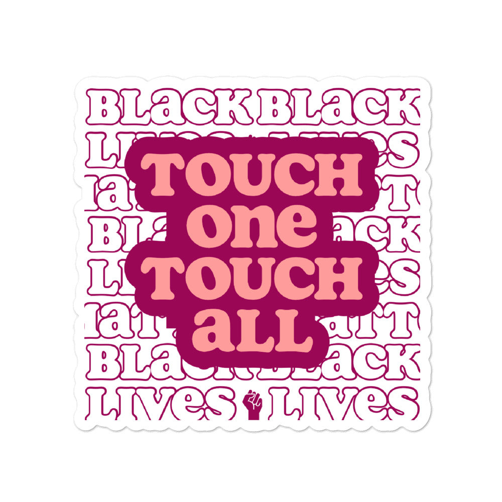 Pink Touch One Touch All Vinyl Sticker