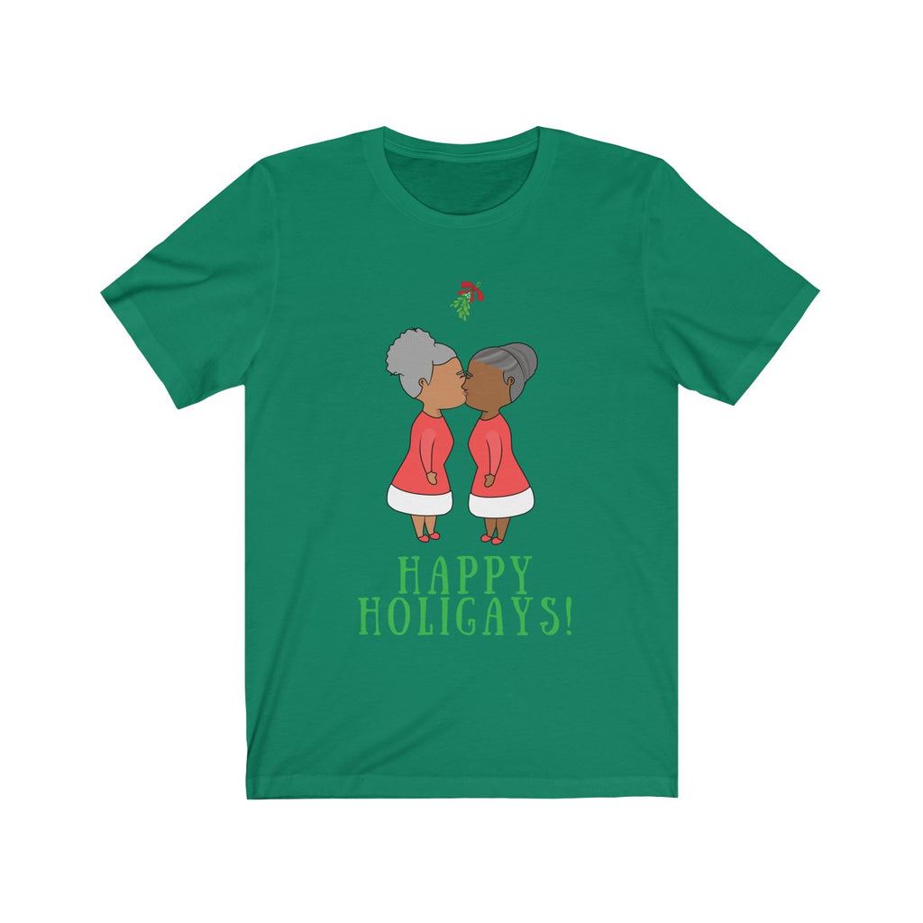 Mrs & Mrs Claus Happy Holigays Tee