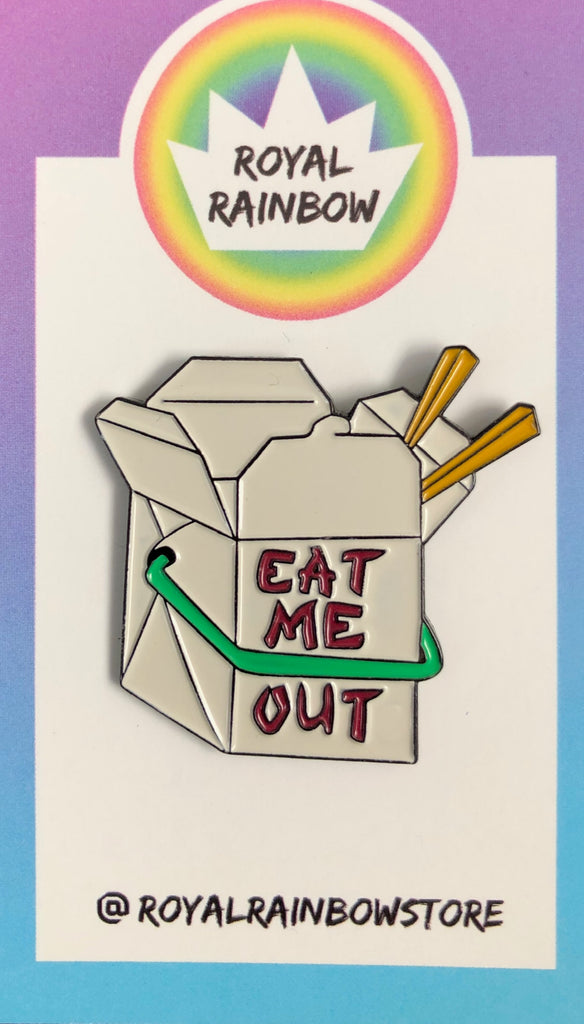Eat Me Out Enamel Pin