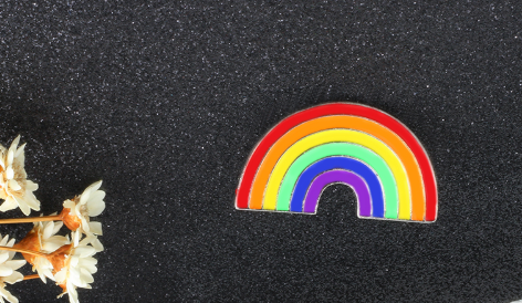 Rainbow Enamel Pin - Royal Rainbow
