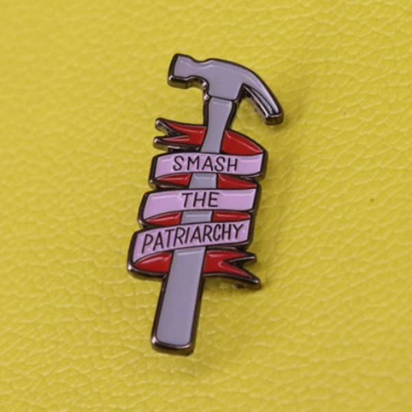 Smash The Patriarchy Enamel Pin - Royal Rainbow