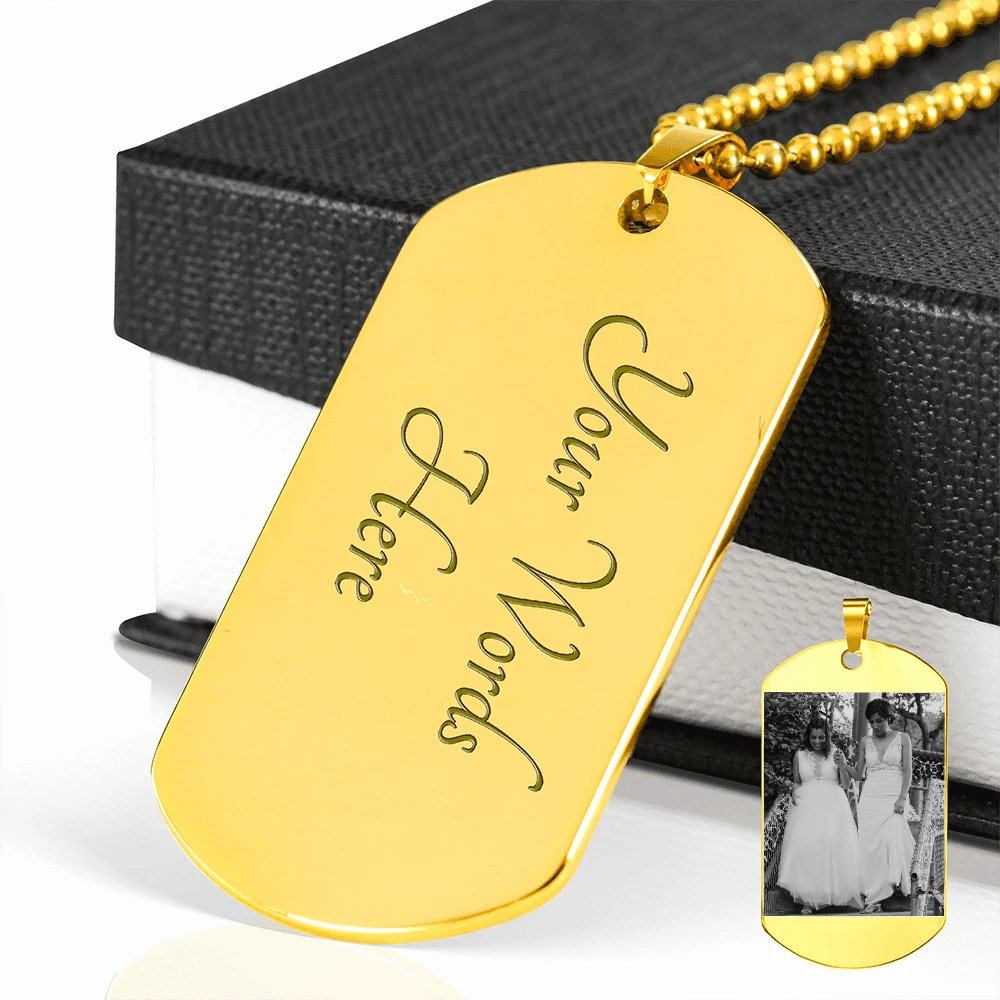 Personalized Engraved Dog Tag