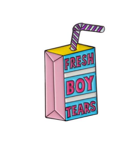 Fresh Boy Tears Enamel Pin - Royal Rainbow