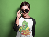 Resting Grinch Face Baseball Tee