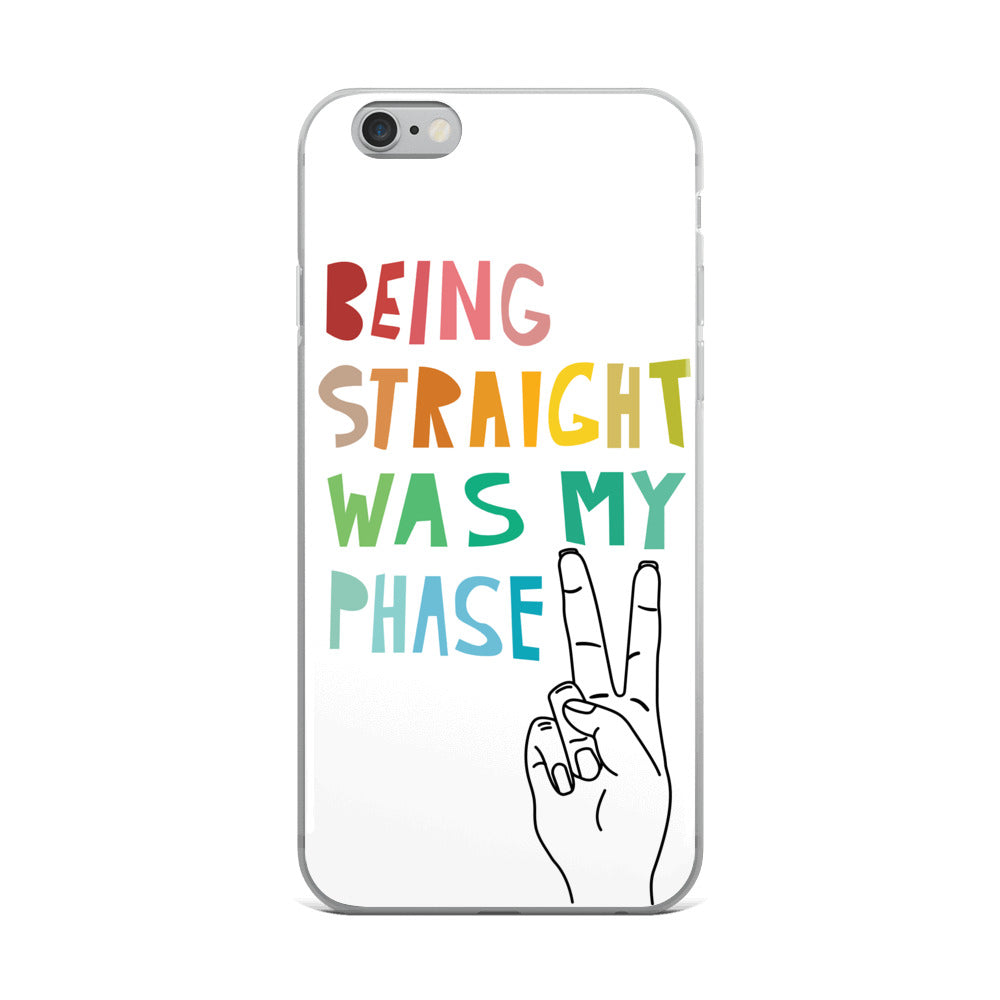 """Being Straight Was My Phase"" iPhone Case - Royal Rainbow"