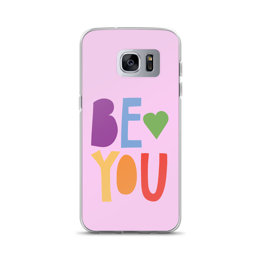 """Be You"" Rainbow Font Samsung Case - Royal Rainbow"