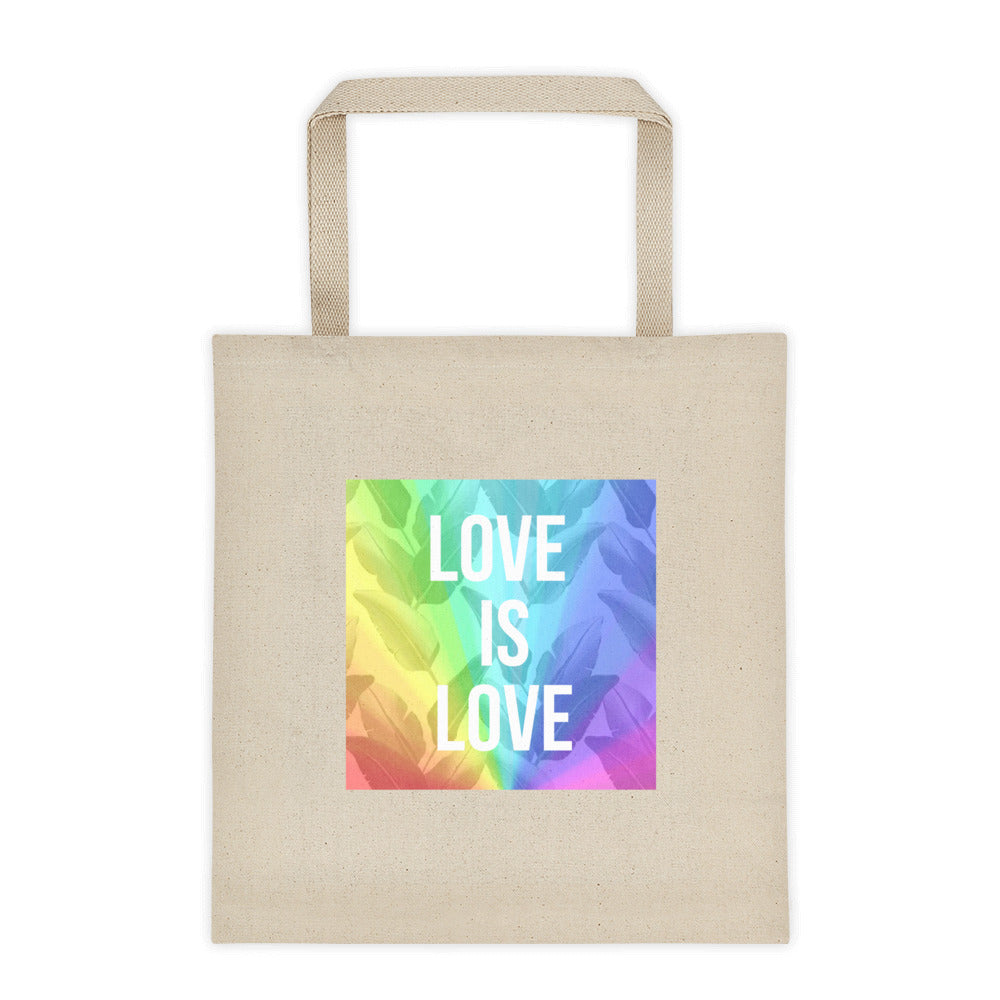 LOVE is LOVE Tote bag - Royal Rainbow