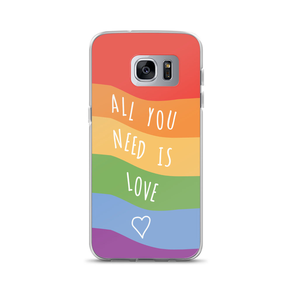 """All You Need Is Love"" Pride Flag Samsung Case - Royal Rainbow"