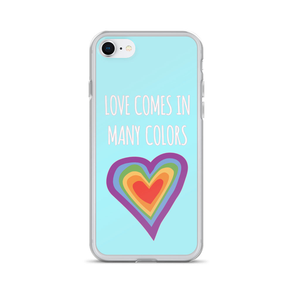 """Love Comes In Many Colors"" iPhone Case - Royal Rainbow"