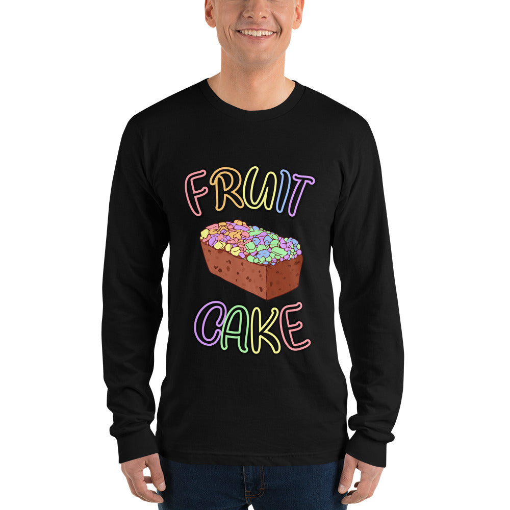 Fruit Cake Long Sleeve T-shirt unisex - Royal Rainbow
