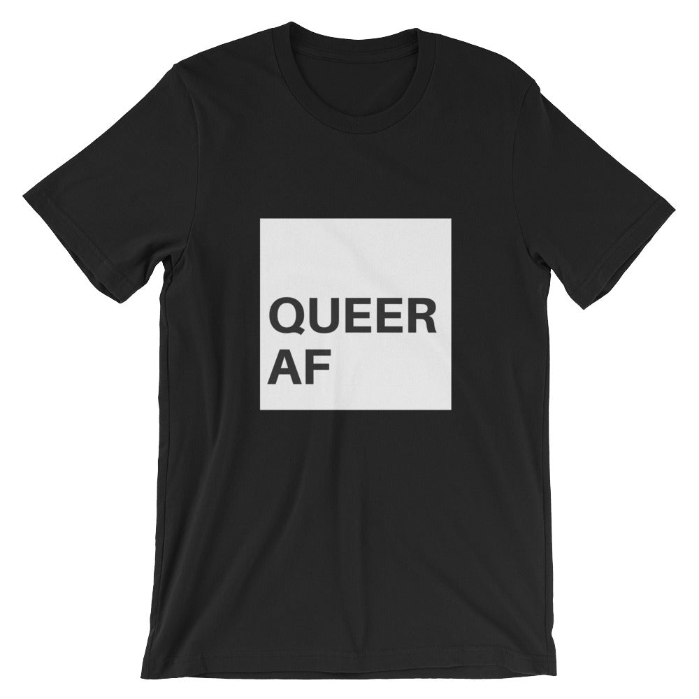 Queer AF Short-Sleeve T-Shirt - Royal Rainbow