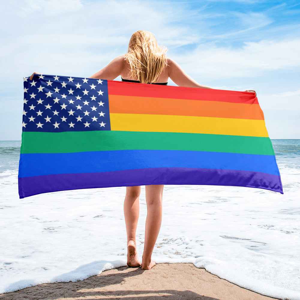 GAY USA Beach Towel