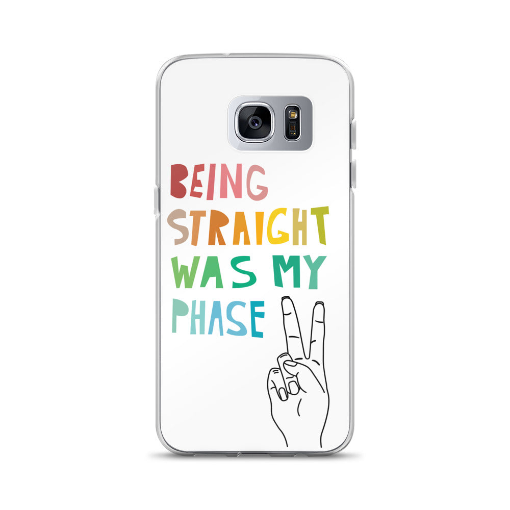 """Being Straight Was My Phase"" Samsung Case - Royal Rainbow"