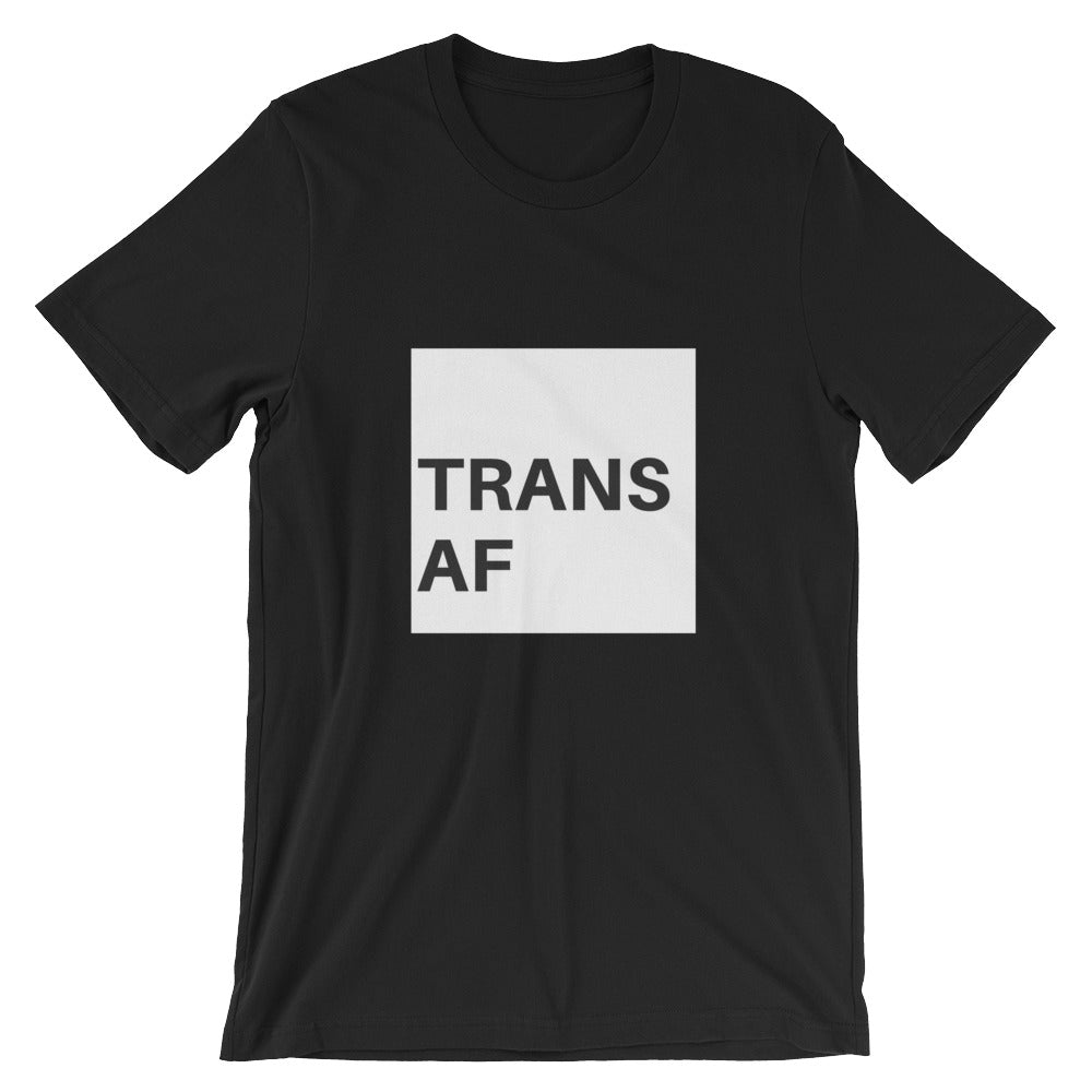 Trans AF Short-Sleeve T-Shirt - Royal Rainbow