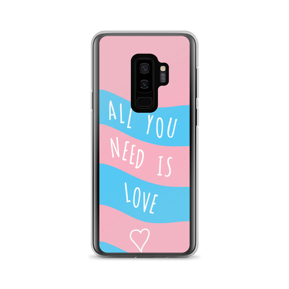 """All You Need Is Love"" Trans Flag Samsung Case - Royal Rainbow"