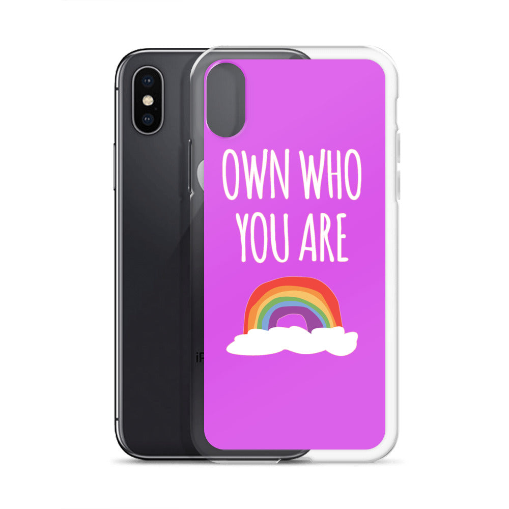 """Own Who You Are"" iPhone Case - Royal Rainbow"
