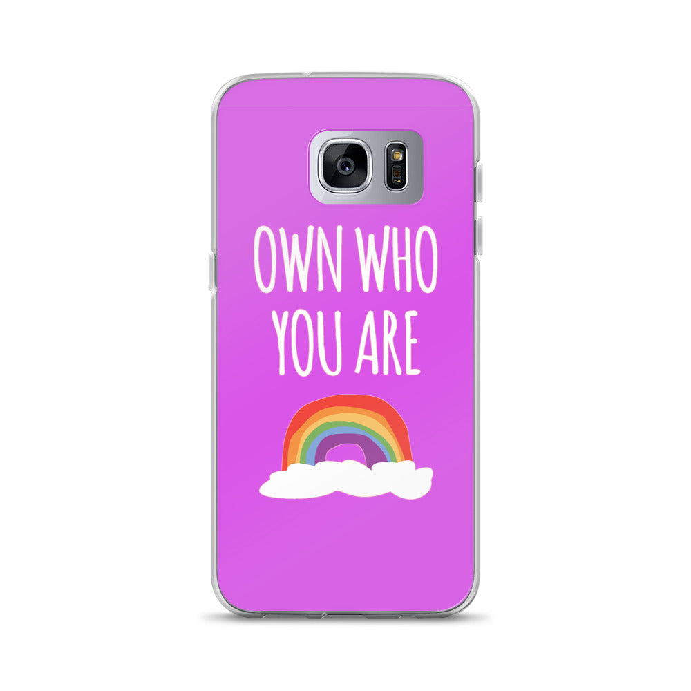 """Own Who You Are"" Samsung Case - Royal Rainbow"
