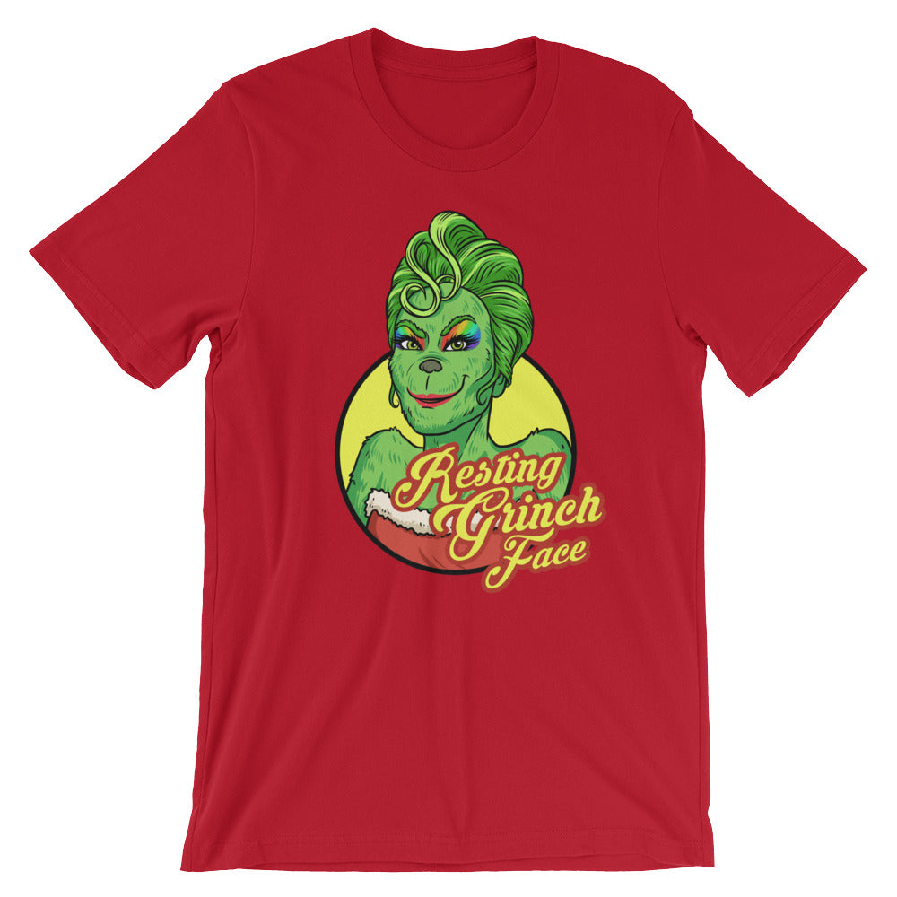 Resting Grinch Face Short-Sleeve T-Shirt Unisex - Royal Rainbow