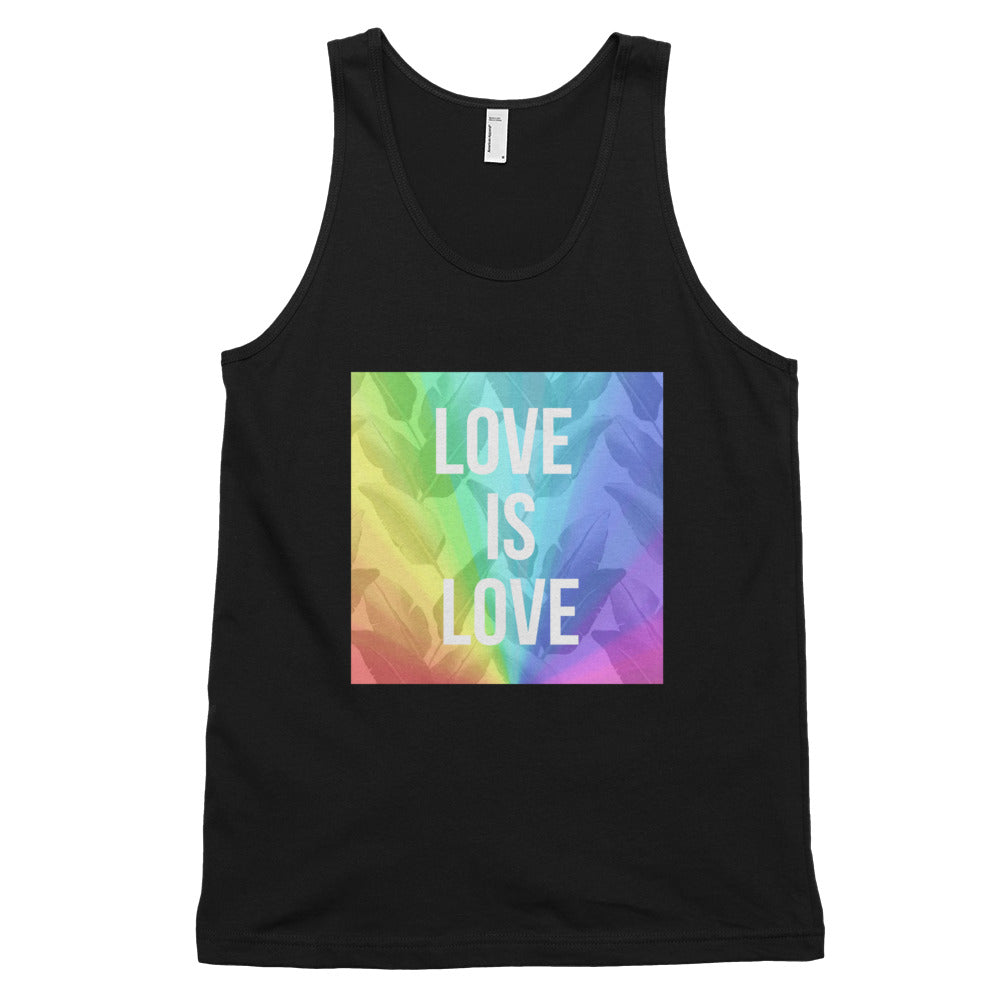 LOVE is LOVE Classic Men's tank top - Royal Rainbow